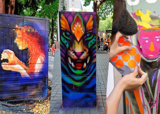 Rozvodné skrine v Bratislave premenili na nosiče súčasného umenia