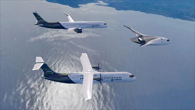 Airbus predstavuje lietadlá na vodíkový pohon