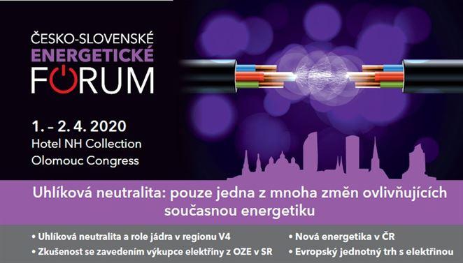 Pozvánka na konferenciu: Česko-slovenské energetické fórum