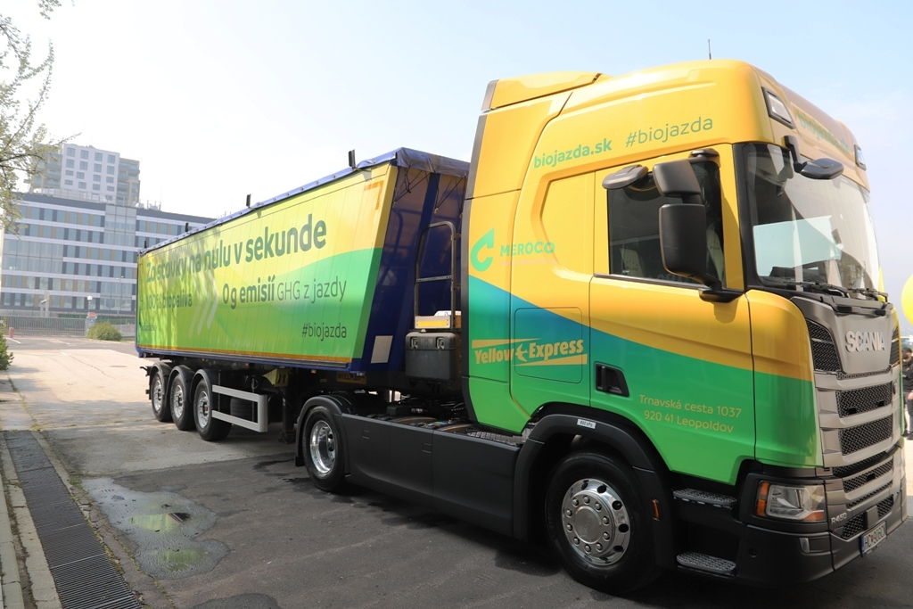 Na Slovensku je prvý kamión na 100 % biopalivo (VIDEO)