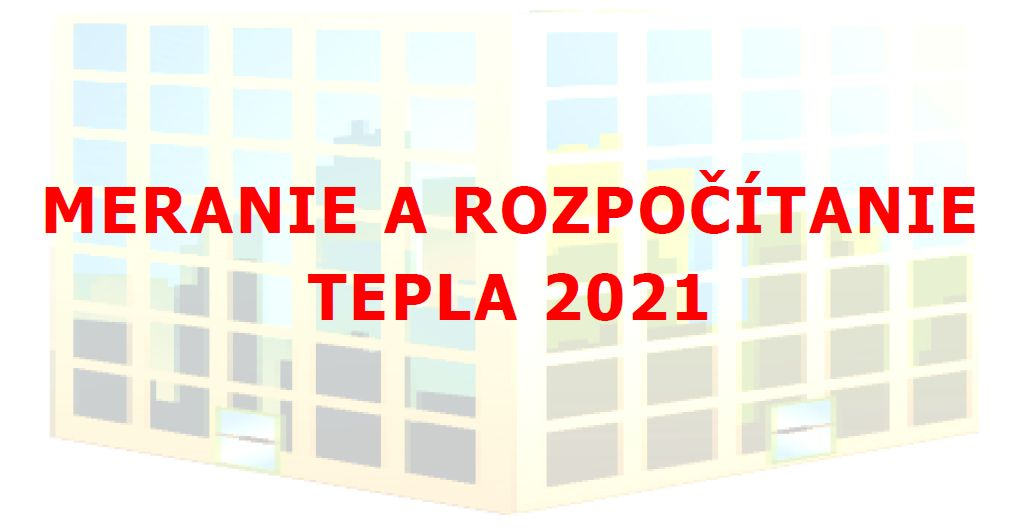 Pozvánka na konferenciu: Meranie a rozpočítanie tepla 2021