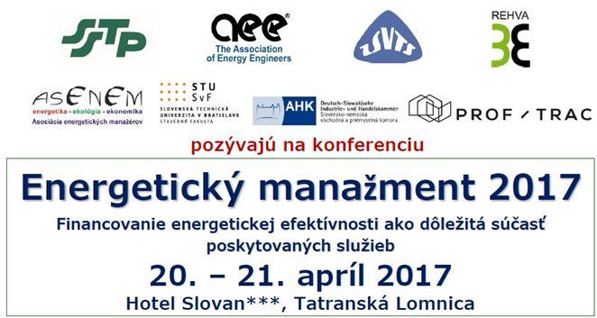 Pozvánka a konferenciu: Energetický manažment 2017