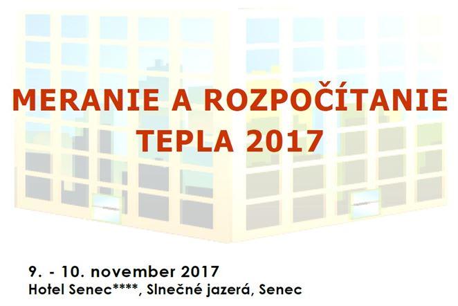 Pozvánka na konferenciu: MERANIE A ROZPOČÍTANIE TEPLA 2017
