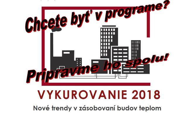 Pozvánka na konferenciu: VYKUROVANIE 2018