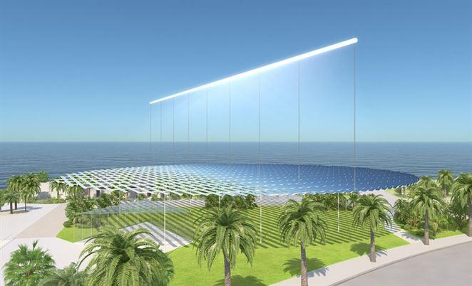 Projekt Sun Ray využíva na sústredenie slnečnej energie zrkadlá