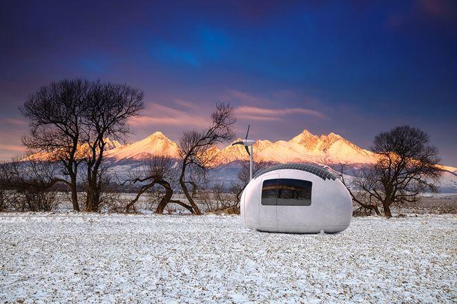 Energeticky sebestačný domček Ecocapsule slovenskej výroby je na svete