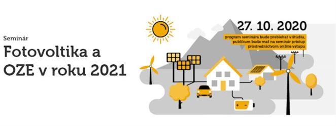 """Seminár SAPI """"Fotovoltika a OZE v roku 2021"""" bude vysielaný online"""