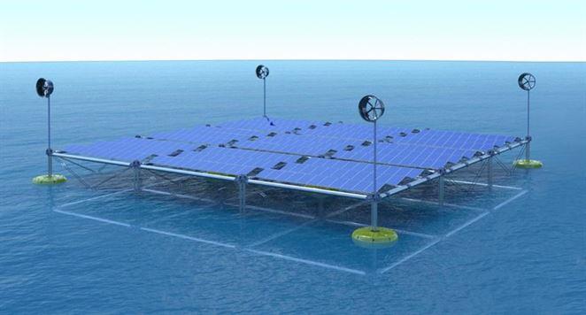 Hybridná elektráreň využíva energiu morského príboja, vetra aj slnka